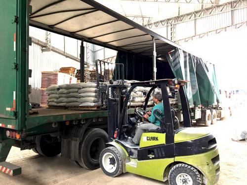 Carregamento dos fertilizantes